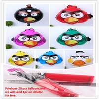 balloon children toys - Foil Balloons Party Decoration x45cm Angry Bird Cartoon Animals Balloon Children Gifts Party Supplies Aluminum Film Balloons Colors
