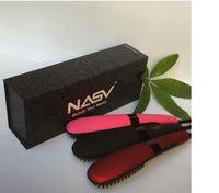 bb lcd - Original Nasv Beautiful Star comb hair straightener LCD Temperature Controls Straightening Hair massager VS mason hair brush bb