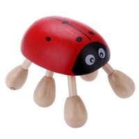 Wholesale Lovely Woolen Head Massage Ladybug Shape Smile Face Acupuncture Point Relaxing Goods Snowpear K00105