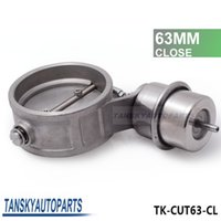 Wholesale Tansky NEW Vacuum Activated Exhaust Cutout Dump MM CLOSE JDM Style Pressure about BAR TK CUT63 CL