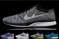 Wholesale 2016 Flywire Knit Racer Trainer Running Shoes Air Barefoot Max Jogging Sneakers Roshe Run Athletic Shoes
