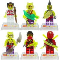 Wholesale New Transparent Crystal Minifigures LELE Ninja Figures Classic Building Blocks Sets Model Bricks Minifigures Toy