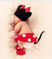 baby holiday photos - Newborn Baby Photo Prop Crochet Custom Mickey Mouse Photography Back Drop Props Clothing Sets
