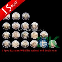 art collecting - No copy Soviet Union red book Rare Wildlife animal bimetallic coins metal collecting russian coins