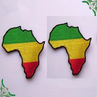 africa accessories - Africa Flag Map Rasta Rastafarian Reggae Appliquepatch Embroidery Badge Patches iron on garment DIY accessory