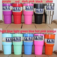 Wholesale 10 Colors In Stock YETI Coolers Rambler Tumblers oz Large Capacity Stainless Steel Cup Liquid Cup Vacuum Cups