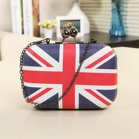 american union jack - New Arrivals Bags Fashion Union Jack Flap Evening Bags Mini Clutch Banquet Shoulder Messenger Bag for Women Handbags