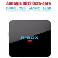 Wholesale Android TV box R BOX PRO BEST android tv CPU Amlogic S912 kidi media player RAM GB ROM GB bluetooth set top box