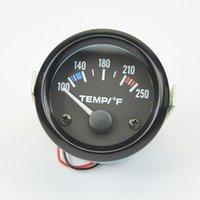 Wholesale 2 Inch Car Moto Pointer Fahrenheit White Light Water Temp Gauge Modified Auto Gauge Auto parts Delivery Sensor