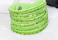 bangles with ring - 000Fashion Multilayer Wrap Bracelets Slake Deluxe Leather Charm Bangles With Sparkling Crystal Women Sandy Beach Fine Jewelry Gift