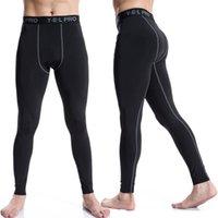 Fitness Deportivo pantalones de las medias de largo para hombres sin costura-secado rápido al por mayor de la aptitud Hombre Running Trainning Leggings Pantalones WR-HKC023