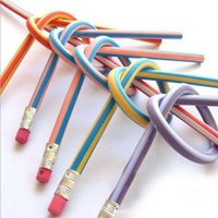 Wholesale 5 creative flexible soft pencil magic stationery school supplies for kids material escolar