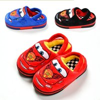 Wholesale 2016 Fashion winter fashion cute boys girls cartoon car cotton sandals children s home warm indoor slippers kids footwear O101