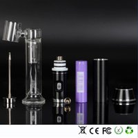 Wholesale G9 portable dabbing enail oil rig wax vaporizer H enail kit with mah rechargerble battery for dry herbs Hookahs bongs