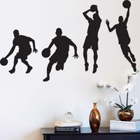 basketball dribbling - Sportsman Dribble dunk basketball wall stickers boy s room wallpapers wall decals removable novelty quot quot wallpaper for kids rooms