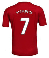 Wholesale by dhl manchester Thai Quality Soccer Jerseys Red Blue Rooney Football shirts Martial maillot de foot