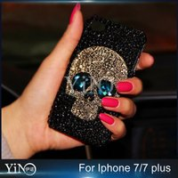 apples skeletons - luxury D Rhinestone Case Skull Skeleton Blue Red Eyes Bling Capa Cover for iPhone Plus Plus S