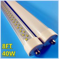Cheap LED bulbs light Single pin 8ft LED Tube t8 lamp 40W SMD2835 2.4m led fluorescent tube T8 AC 85-265V free shipping