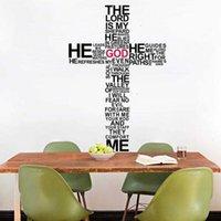 bible mural - God Wall Vinyl Sticker Decal Cross Jesus Christ Psalm Pray Bible Bedroom Mural