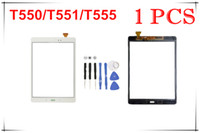 Wholesale Touch Screen Digitizer Glass Lens with Tape for Samsung Galaxy Tab A T550 T551 T555 with logo free tools