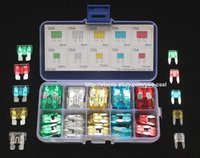Wholesale 90 Blade type Fuse plug in Fuse ATO Regular Fuse Mini Fuse Assortment Kit Puller A A A A A