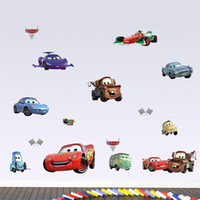 Wholesale newest HOT Cartoon cars child room wall stickers for kids room boy bedroom wall decals D window view hole scenery poster