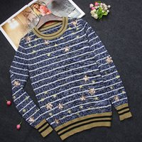 Wholesale 2016 Stunning Star Sequins Colorful Long Sleeves Women s Sweater Top Quality Milan Runway Women s Pullovers