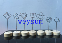 Wholesale multi shaped wire place card holder memo photo clip picture clamp wedding decoration