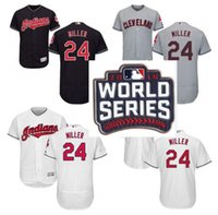 Wholesale 2016 World Series Patch Men s Cleveland Indians Andrew Miller White grey blue Flexbase Authentic Collection MLB Jersey stitched S XL