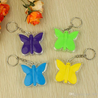 aluminum plate manufacturers - Butterfly Light Keychain keychain creative gift ideas Yiwu Small Commodity manufacturers night market stall