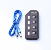 2-4 USB 2.0 480Mbps High Speed 4 Ports USB 3.0 HUB With On Off Switch Power Adapter USB Hub For Desktop Laptop PC Computer Notebook