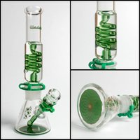 Tubes narguilé Avis-Illadelph Mini Freezable Tube de bobine 7MM bécher bongs tubes en verre d'eau concentré tube bubbler narguilés fumeux heady livraison gratuite