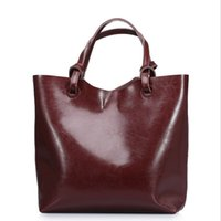 big desinger handbags - High fashion women bags oil wax leather tote bag big size single shoulder bags brand desinger handbag CH800022