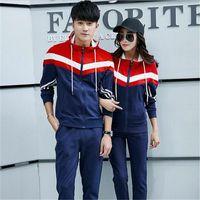 Wholesale Spring Fashion autumn new Korean wild men s track suit lovers big yards Slim suits men and women fashion