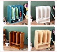 Wholesale Size cm Wooden Home Office Products Sundries Storage Organizer Newspaper Books Rack Storage Box Pot Vase Storage Holders Racks