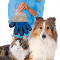 Wholesale Dogs Cats Pet Hair Grooming Silicone Glove Black Brush Remover Color Box One Piece