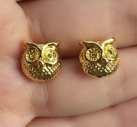 Wholesale HOT DIY mm Gold plated the head of the owl metal beads Jewelry findings