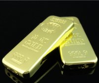 Wholesale 2016 hot Butane Gas euro Gold bar bullion Lighter cigarette Cigar Punch lighters
