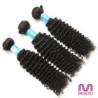 Cheveux brésiliens Extensions de cheveux humains de Vierge Cheveux péruviens Paquets Kinky bouclent 3 paquet 12-30 pouces Livraison gratuite de DHL MOSTO