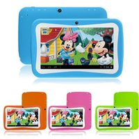 Wholesale Newest inch Kids Tablet PC RK3126 Quad Core G ROM Android With Children Educational Apps Dual Camera PAD for Children