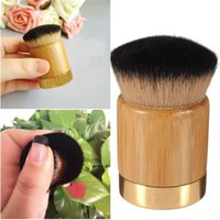 bamboo powder brush - Professional Bamboo Makeup Powder Foundation Brush Kabuki Cosmetic Blush Brush
