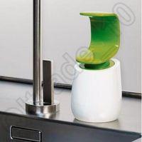 Wholesale Creative C Pump Single Handed Soap Dispenser Single Handed Soap Dispenser White And Blue Soap level Indicator CCA4597