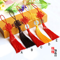Wholesale DIY jewelry accessories silk tassel ears smooth Wenwan China knot buckle hanging pendant tassel bag of coins