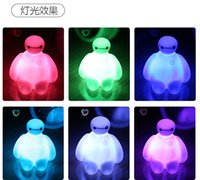 Wholesale 2016 Lovely Cartoon Desk Lamp Big Hero Table Lamp Baymax Night Light Cartoon Colorful Children Christmas Gift Pieces ZJ35