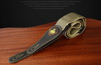 Wholesale Durable Leather Guitar Strap High Quality Adjustable Guitar Straps Cotton Thicken Acoustic Electric Folk Guitars Accessories