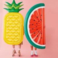 Wholesale 2016 New cm Inflatable Half Watermelon Float Pool Beach Swimming Toy Blowup Fruit Float Floatie Air Mattress Swim Ring Water