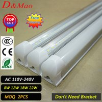Wholesale Led Tube Lights Integrated m W Led T8 Tube Lights SMD2835 Leds High Bright light lm V fluorescent lighting