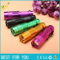 Wholesale Zoomable Led Flashlight Torch Light nm Ultra Violet Light Blacklight UV Lamp AA Battery For Marker Checker Cash