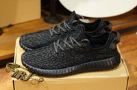 Cheap Adidas Originals Yeezy 350 Kanye Milan West 2016 Moonrock Oxford Tan Pirate Black Running shoes snakers Fasion Sports with box size 5-11.5