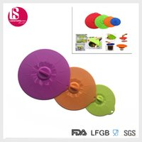 Wholesale LFGB standard food grade silicone suction lid pot and bowl cover set of